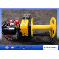 Wholesale 4HP Rated Load Portable Diesel Cable Winch For Transmission Line Laying Projects from china suppliers