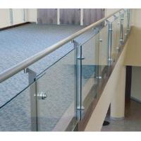 Wholesale 304 Interior Stainless Steel Guardrail / Stainless Steel Handrail Glass Balustrade from china suppliers