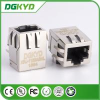 Wholesale PCB Mount shielded Single Port RJ45 Ethernet connector Female GigaE 10p8c jack from china suppliers