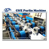 Wholesale Interchangeable C Z Purlin Roll Forming Machine With Pre - Cutting Device from china suppliers