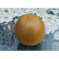 Wholesale Smooth Cherry Solid Wood Balls , Dia 60 mm Natural Varnished Big Wooden Balls from china suppliers