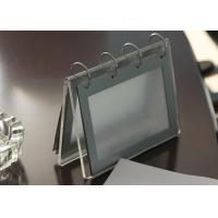 Wholesale Office Clear Acrylic Calendar Holder , Custom Desk Calendar Stand from china suppliers