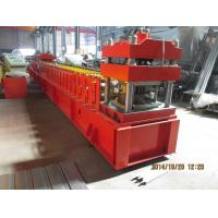 Quality European Metal Door Slot Profile Roll Forming Machine With Automatic Punching 3 - 5 m / min for sale