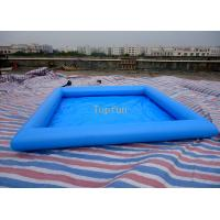 Wholesale Safe 5*5m Blue Kids Inflatable Paddling Pool , 0.9mm PVC Tarpaulin from china suppliers