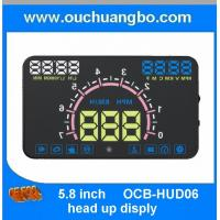 Wholesale Ouchuangbo 5.8 inch hud head up diplay with OBD2 Interface Plug & Play ES350 Vehicle-Mounted Speeding Warning Alarm from china suppliers