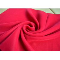 Wholesale Garment Plain Micro Velvet Fabric Decorator Rose Red OEM Accept from china suppliers