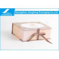 Wholesale C2S Paper Material Rigid Cardboard Empty Gift Boxes With Bowknot Ribbon from china suppliers