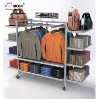 Wholesale Flooring Gondola Retail Display Shelving Metal 4 - Way Hanging Apparel Display Rack from china suppliers