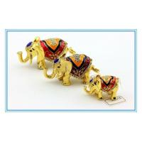Wholesale 100% Handmade Color Enamel Elephant shape Trinket box from china suppliers