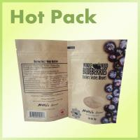 Wholesale Dry Food Packaging Custom Printed Kraft Paper Stand Up Pouch For Blueberry from china suppliers