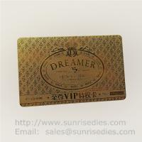Wholesale Chemically Etched process metal cards metal page marker bookmars maker from china suppliers