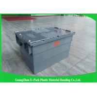 Wholesale Customzied Plastic Moving Boxes For Warehouse , Attached Lid Totes from china suppliers