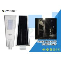 Wholesale Phone Control Integrated Solar Street Light With Solar Panel , Bridgelux LED Chips from china suppliers