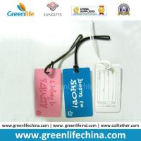 Wholesale Different Color Printed Good Quality Rectangle Shape PVC Luggage Tag from china suppliers