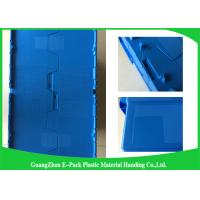 Quality 600 * 400 * 315mm Plastic Attached Lid Containers Stackable And Nestable PP Materials for sale