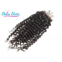 Wholesale Deep Curl Malaysian Virgin Human Hair Closure With Baby Hair With Full Cuticle from china suppliers