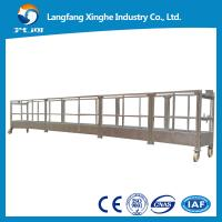 Wholesale Aluminum rope suspended platform capacity ZLP800,800kg / facade cleaning gondola from china suppliers