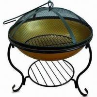 Quality 46.5 x 46.5 x 54cm Fire Pit with Ø45cm Cooking Area for sale