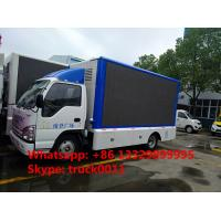 Wholesale HOT SALE! 2017s new ISUZU 4*2 LHD mobile LED truck with 3 sides P6 LED screens, best price ISUZU P6 LED billboard truck from china suppliers