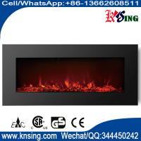 "Wholesale 50"" elecric fireplace WF-50 wall mounted real coal black glass best home choice heater from china suppliers"