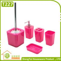 Bathroom Set Supplier Modern Fashion Colorful 5 Pcs Bathroom Product For Decor