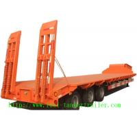 Wholesale 40ft Dimensions tri-axle lowbed semi trailer truck and high bed  truck semi trailer from china suppliers