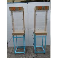 Wholesale Shops Lighting Acrylic Wooden Sunglasses Display Stand With Blue Metal Rack from china suppliers