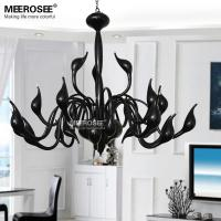 Wholesale Free Shipping Hot Sale Modern Black Swan Chandelier Light Lamp With 24 lights Hotel Project Lighting restaurant lighting from china suppliers