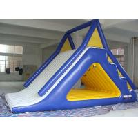 Wholesale Attractive Fire - Proof White / Blue Inflatable Water Park Slides For Sea / Lake / Pool from china suppliers