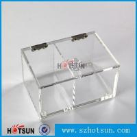 Wholesale 2016 newest clear/plexiglass customised acrylic small boxes with lid from china suppliers