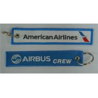 Wholesale American Airlines Airbus Crew Embroidery Keychain Keyring Key Ring Key Chain Key FOB Embroidered Key Chain 13 x 2.8cm 10 from china suppliers