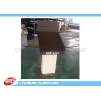 Wholesale Brown customize MDF Metal Wooden Display Stands / Table , carpet display stand from china suppliers