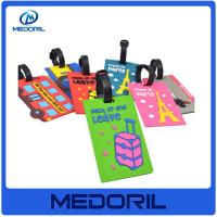 Wholesale Promotion and custom eco-friendly siliconematerial luggage tags plain luggage tag from china suppliers