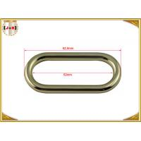 Wholesale 50 x 4mm Oval Key Holder Metal Belt Loops , Stainless Steel / Metal O Rings Hardware from china suppliers