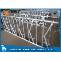 Wholesale 7 place Locking Feed Barriers , Dairy Cow Headlock Feed Lines Fence from china suppliers