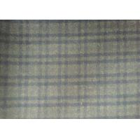 Wholesale Lovely Plaid Wool Fabric Grey , 720g/m Lightweight Tartan Fabric plaid style from china suppliers