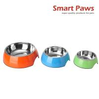 Wholesale Smartpaws 3 size melamine  pet bowl stainless steel pet bowl for dogs and cats New pet products colorful choose from china suppliers