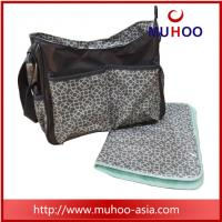 Wholesale Designer grey canvas messenger baby nappy diaper bags for outddor from china suppliers