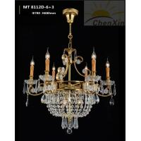 Quality Candle Bulb Crystal Pendant Chandelier Decorative Ornate Ceiling Lights For Hall for sale