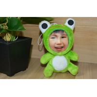 Wholesale Customization Frog DIY 3D Photo Face , Stuffed Plush 3D Face Dolls from china suppliers