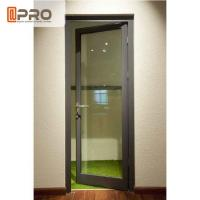 China Water Penetration Prevent Aluminium Hinged Doors 1.2-2.0MM Profile Thickness on sale