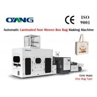 Wholesale Full Automatic Laminated Non Woven Box Bag Making Machine With Handle Attached from china suppliers