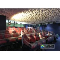 Wholesale Rea and Black Leather Motion Chair 5D Movie Theater 5D Simulator Quality Guarantee from china suppliers