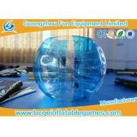 Quality TPU Inflatable bubble football , 1.5m Bumper Human Body Zorb Football for sale