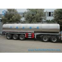 Wholesale 45m3 304 2B Edible Grade Chemical Tank Trailer 3 Axle For Milk / Liquid Food from china suppliers