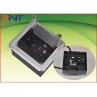 Wholesale Conference Tabletop Brushed Cover Manual Flip Up Power Outlet Box With HDMI from china suppliers