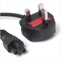 Wholesale Black IEC 60320 C5 3 Prong Notebook Power Cord BS 1363 2.5 Amp 250V from china suppliers