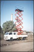 Wholesale Trailer Mounted Aerial Lifts , Scissor Lift Platform For Building Maintaining from china suppliers