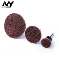 Quality Type R 1 Inch Quick Change Sanding Discs Brown Color Consistent Finishes for sale
