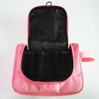 Wholesale Cute Nylon Hanging Travel Makeup Bag Pink Color For Women Wash from china suppliers